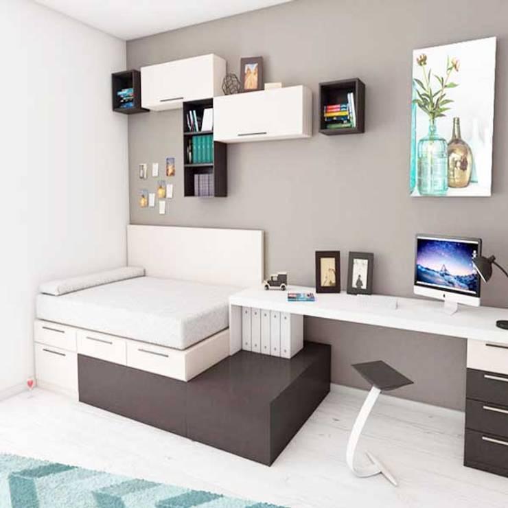 Giường ngủ thông minh:  Phòng học/Văn phòng by Nội thất thông minh giường