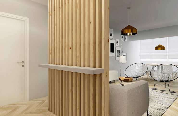 Corridor & hallway by Homestories, Scandinavian