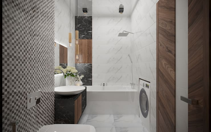 Деревянный бум: Ванные комнаты в . Автор – ХаТа - design