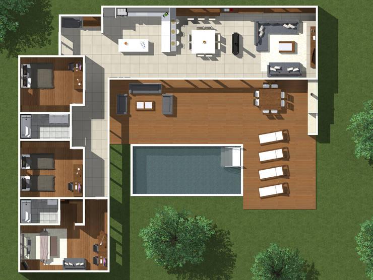 Viviendas: Casas unifamiliares de estilo  por JVG Arquitectura,Moderno