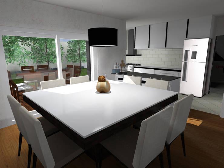 Viviendas: Cocinas de estilo  por JVG Arquitectura,Moderno