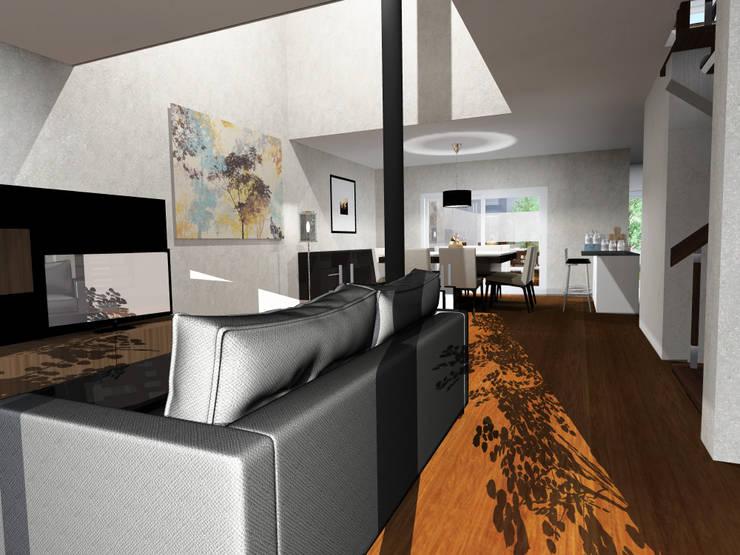 Viviendas: Livings de estilo  por JVG Arquitectura,Moderno