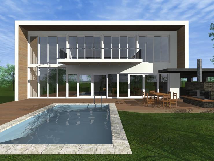 Viviendas: Casas de estilo  por JVG Arquitectura,Moderno