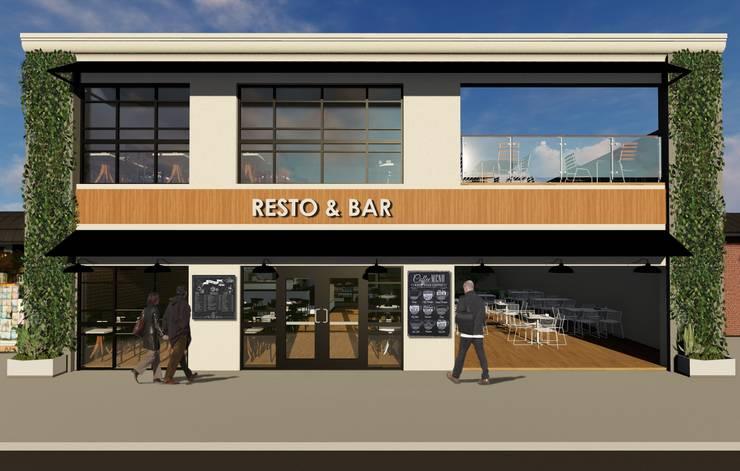 Proyecto Café: Oficinas y locales comerciales de estilo  por JVG Arquitectura