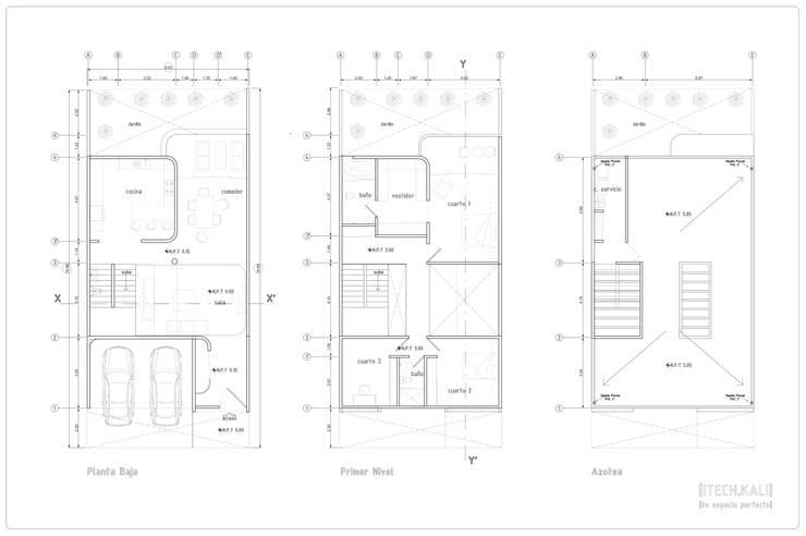 Casa Nordika:  de estilo  por Itech Kali