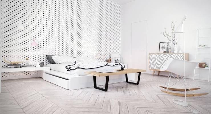 Mẫu thiết kế nội thất phòng ngủ hiện đại cao cấp:  Corridor, hallway & stairs by Thương hiệu Nội Thất Hoàn Mỹ