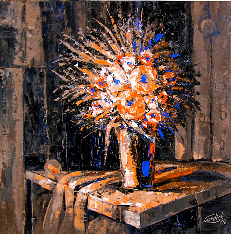 """Pick """"Floral_13"""" Still Life Painting from Indian Art Ideas! : asian  by Indian Art Ideas,Asian"""