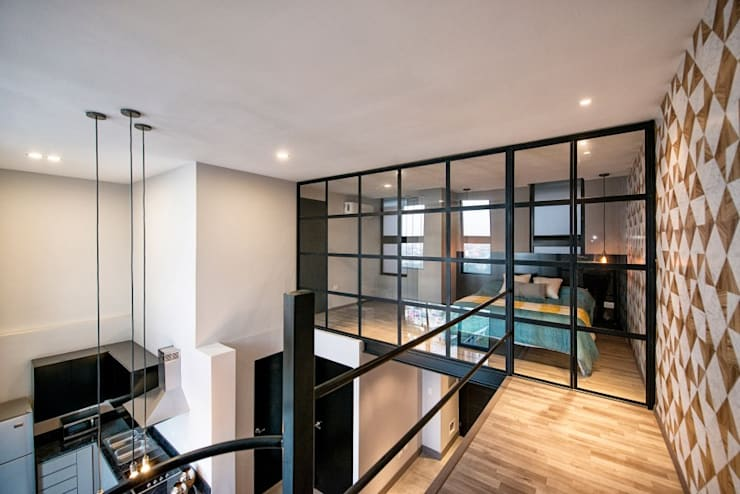 Ruang Keluarga oleh ESTUDIO TANGUMA, Modern Batu Kapur