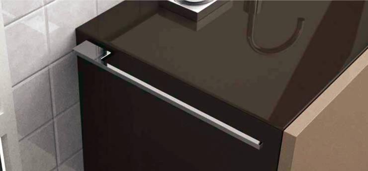 ทันสมัย  โดย Omar Interior Designer  Empresa de  Diseño Interior, remodelacion, Cocinas integrales, Decoración, โมเดิร์น วัสดุสังเคราะห์ Brown