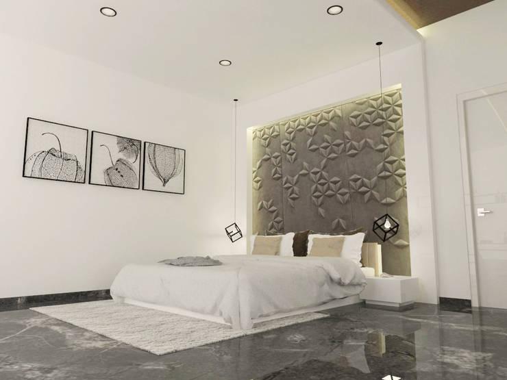 guest bedroom 1: modern Bedroom by URBAIN DEZIN STUDIO