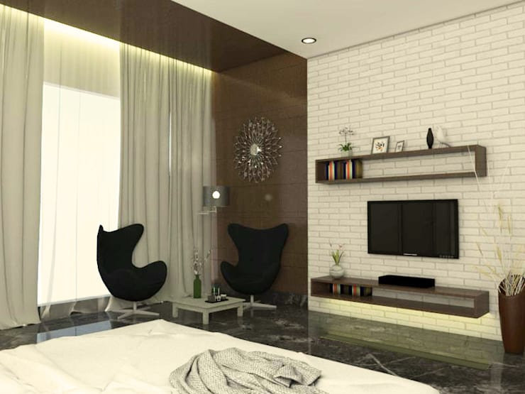 guest bedroom 2: modern Bedroom by URBAIN DEZIN STUDIO