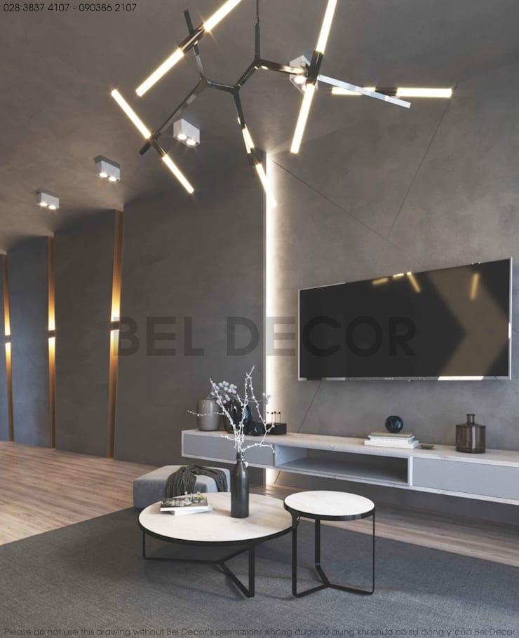HO17111 Luxury Apartment Interior Design & Construction / Bel Decor:   by Bel Decor