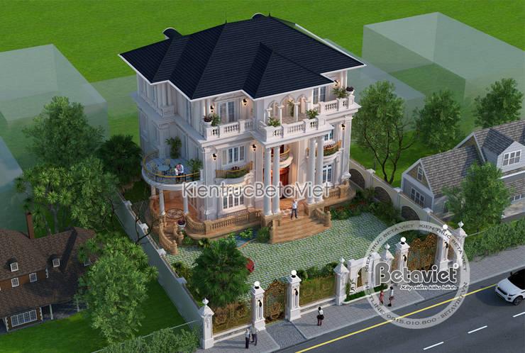 Phối cảnh mẫu thiết kế lâu đài dinh thự 3 tầng kiểu Pháp Tân cổ điển (CĐT: Ông Thái - Bắc Ninh) KT17091:   by Công Ty CP Kiến Trúc và Xây Dựng Betaviet