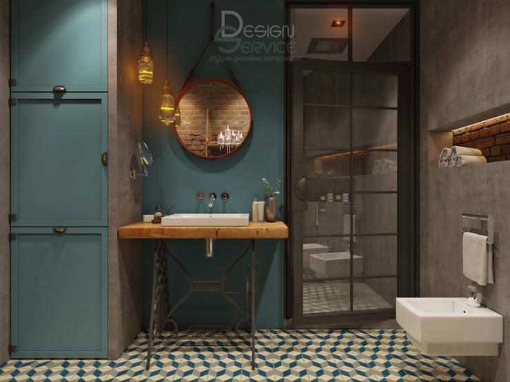 В духе брутального романтизма: Ванные комнаты в . Автор – Design Service