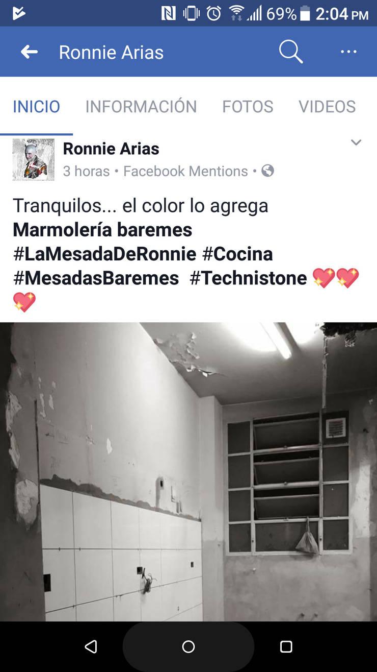 #LaMesadaDeRonnie: Cocinas de estilo  por Technistone Argentina,