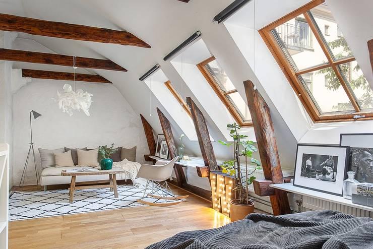 Estar estilo Bohemio o Boho Chic: Livings de estilo  por A3 Arq. Aliro Ramos