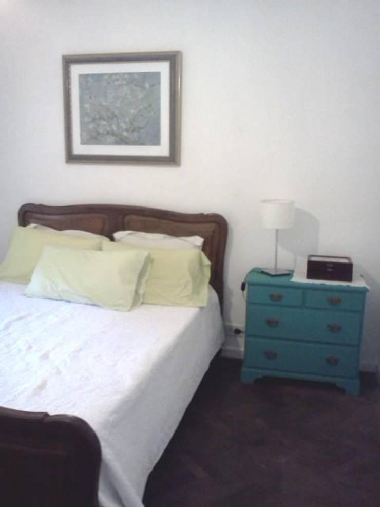 Antes, Estilo Romantico: Dormitorios de estilo  por OOST / Sabrina Gillio,