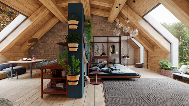 Dormitorio California Casual: Dormitorios de estilo  por A3 Arq. Aliro Ramos