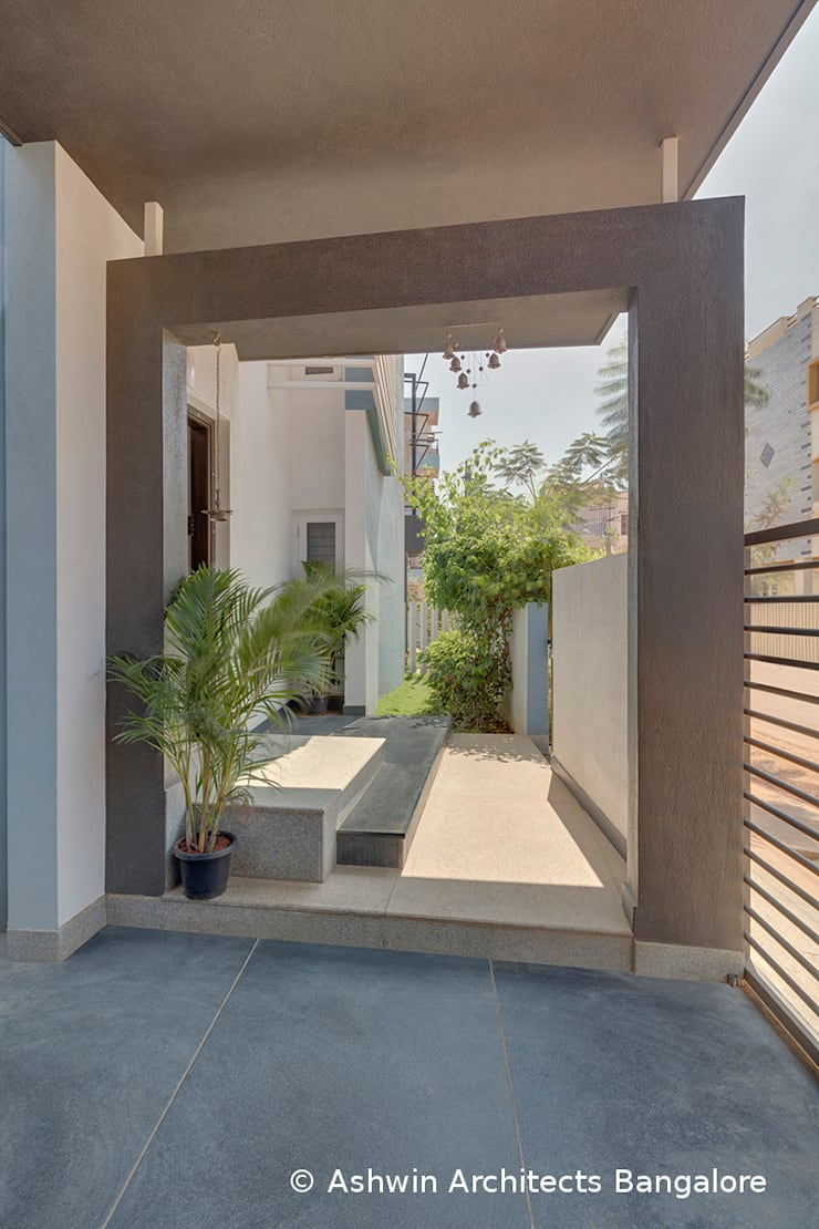 Garden Modern garden by Ashwin Architects In Bangalore Modern