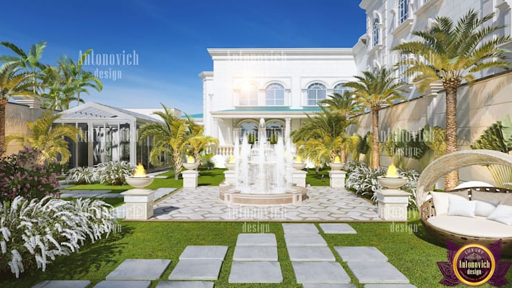 ​Landscaping of the future from Katrina Antonovich:  Houses by Luxury Antonovich Design