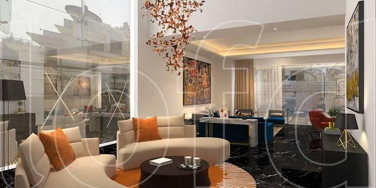 VA Residence:  Living room by Language of Design,Modern