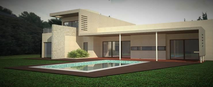 Vivienda en Pago Chico: Jardines de estilo  por NA ARQUITECTURA,