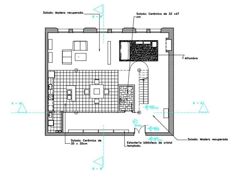 Loft:  de estilo  por Estudio Carmesí. Diseño y Decoración