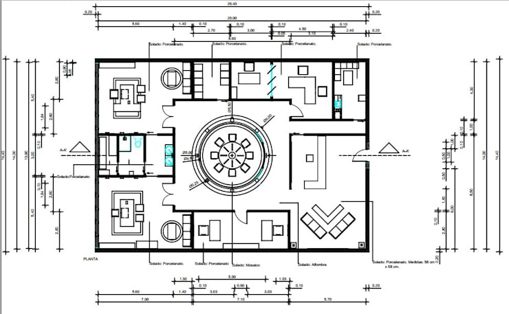 Oficina de abogados.:  de estilo  por Estudio Carmesí. Diseño y Decoración,Clásico