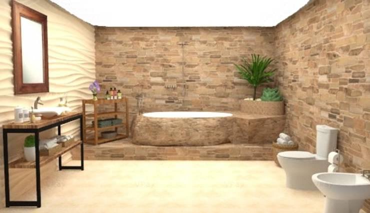 Modelado 3D: Baños de estilo  por Estudio Carmesí. Diseño y Decoración,
