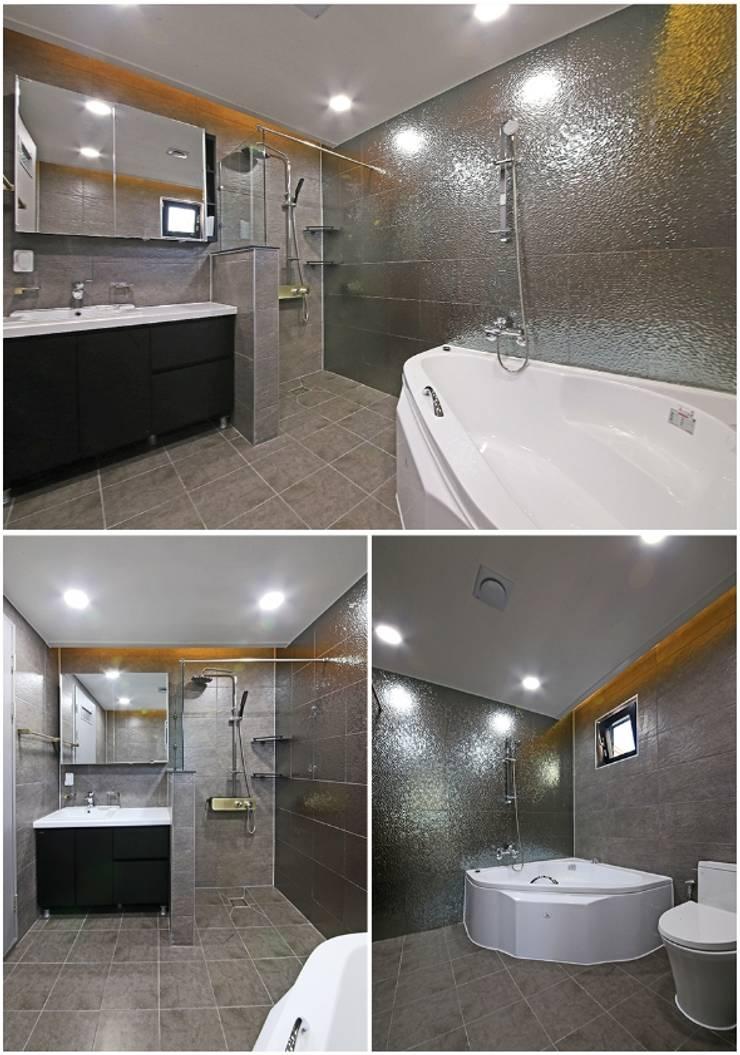 고급 모던하우스: 하우스톡의  욕실