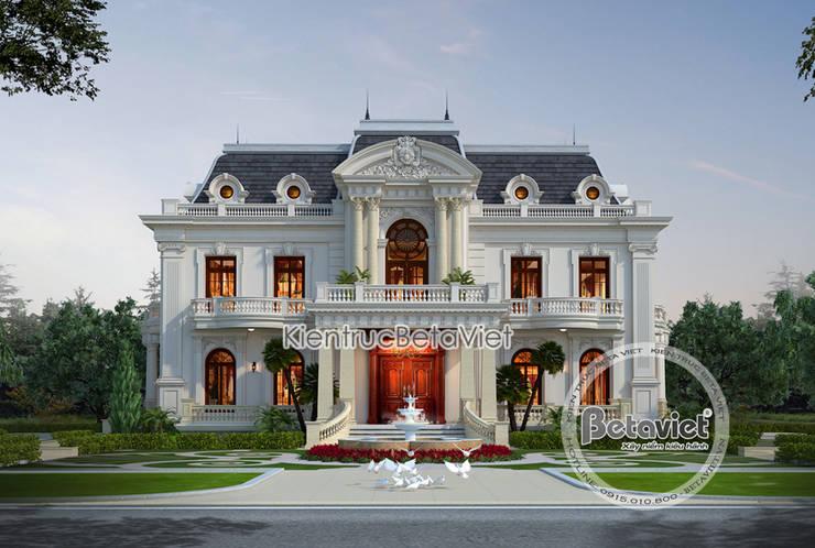 Phối cảnh mẫu thiết kế lâu đài dinh thự đẹp 3 tầng Tân cổ điển (CĐT: Ông Chiến - Thanh Hóa) KT17116:   by Công Ty CP Kiến Trúc và Xây Dựng Betaviet