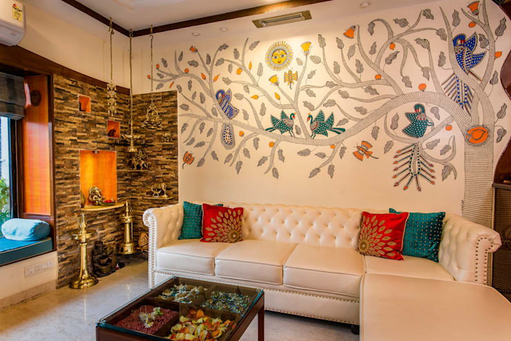 Chembur Renovation: classic Living room by Rennovate Home Solutions pvt ltd