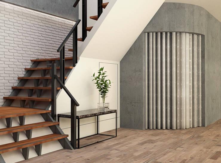 樓梯間:  商業空間 by 城藝室內裝修企業有限公司