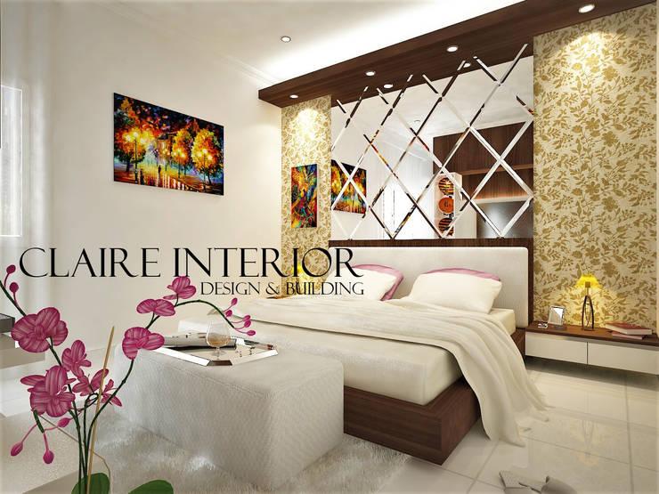 Master Bedroom:  Kamar Tidur by Claire Interior Design & Building