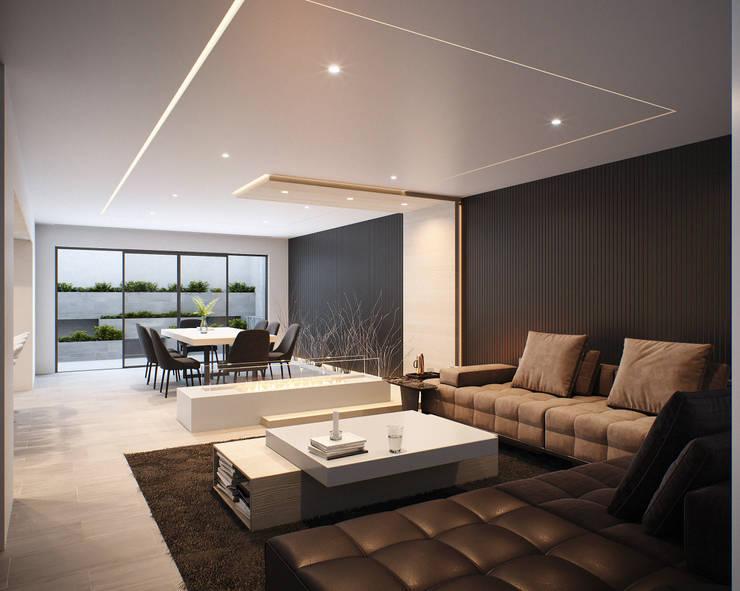 ROBLES 32: Salas de estilo minimalista por CIC ARQUITECTOS