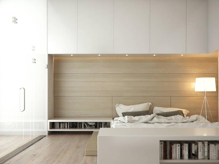 RECÁMARA MASTER : Recámaras de estilo minimalista por CIC ARQUITECTOS