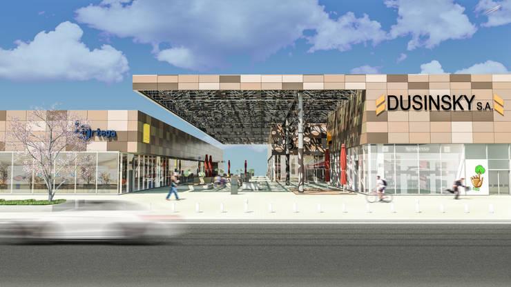 Camara 6 - Vista general de frente: Shoppings y centros comerciales de estilo  por DUSINSKY S.A.
