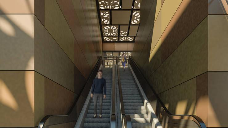 Camara 8 - Interior (acceso a patio de comidas): Shoppings y centros comerciales de estilo  por DUSINSKY S.A.