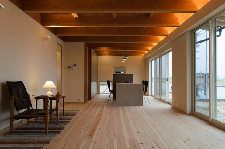 Scandinavian style living room by 風景のある家.LLC Scandinavian Wood Wood effect