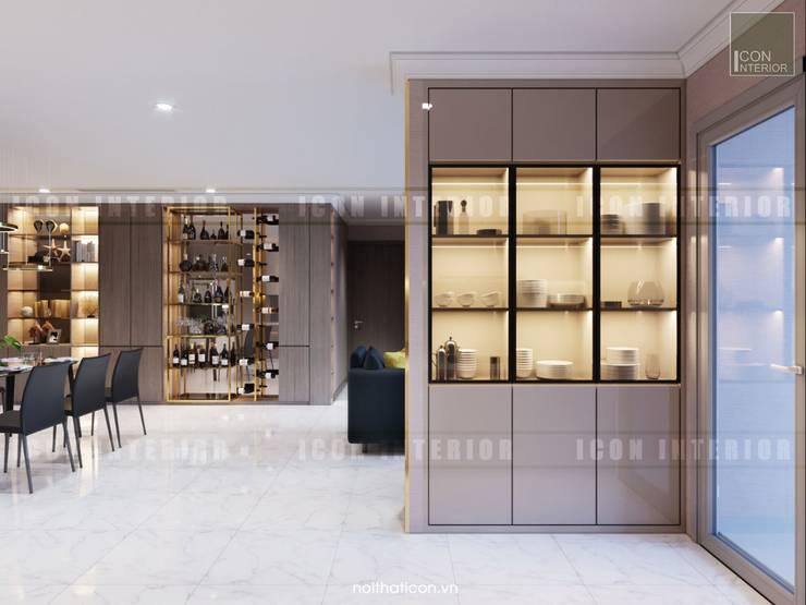 Căn hộ Vinhomes Central Park thiết kế theo phong cách hiện đại dẹp mê mẫn:  Phòng ăn by ICON INTERIOR