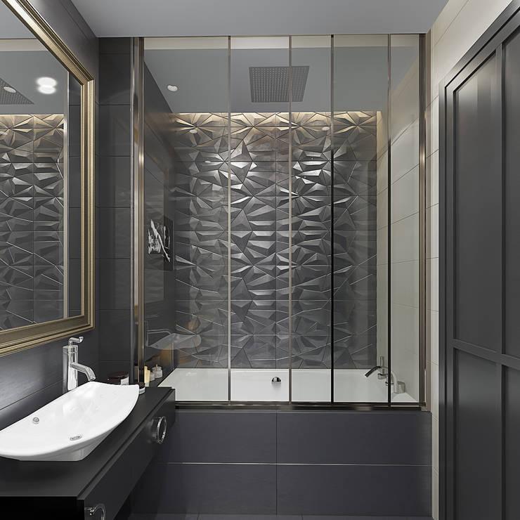 Дизайн-проект квартиры в стиле неоклассика: Ванные комнаты в . Автор – design4y