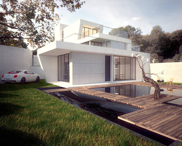 建築與景觀:  度假別墅 by 勻境設計 Unispace Designs