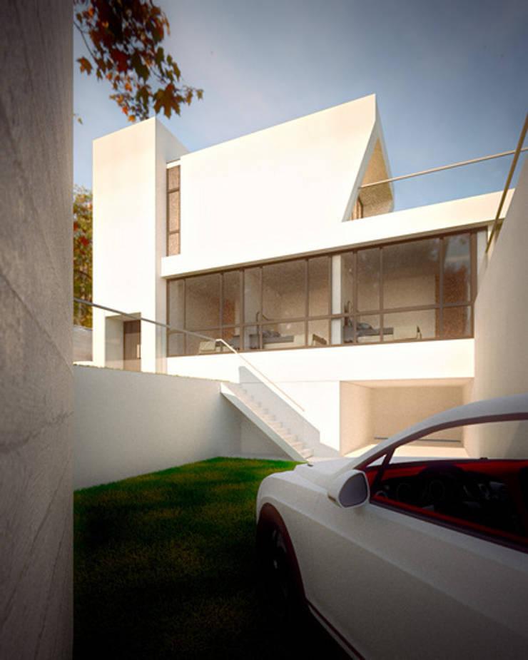 空間用途垂直區分:  度假別墅 by 勻境設計 Unispace Designs