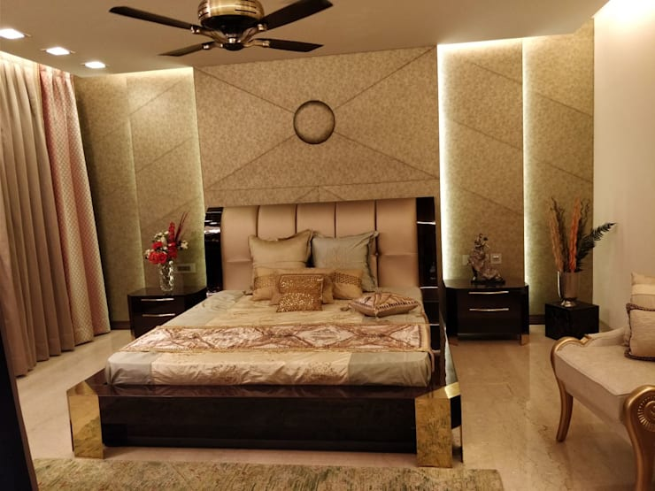 Master Bedroom:  Bedroom by QBOID DESIGN HOUSE,Asian