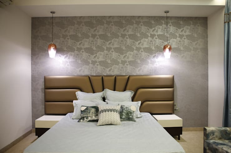 Guest room:  Bedroom by QBOID DESIGN HOUSE,Asian