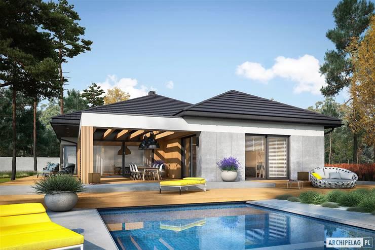 บ้านเดี่ยว โดย Pracownia Projektowa ARCHIPELAG, โมเดิร์น
