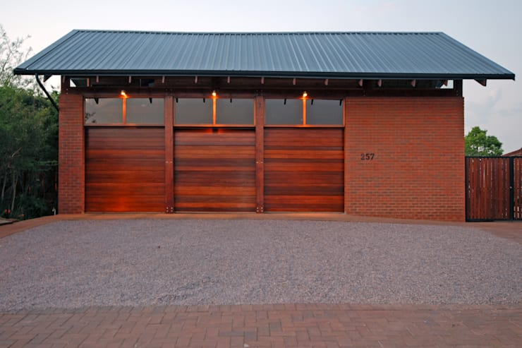 Garages:  Double Garage by Hugo Hamity Architects , Modern