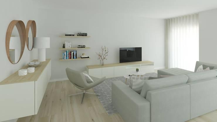 Projeto 3d Sala Estilo Escandinavo De Ana Andrade Design
