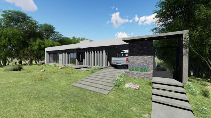 Casas unifamiliares de estilo  por mgt_Estudio de  Arquitectura + Diseño, Moderno