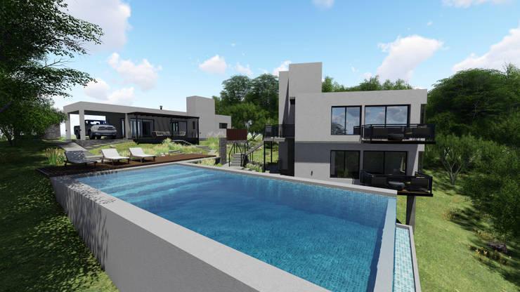 complejo zenobi: Casas unifamiliares de estilo  por mgt_Estudio de  Arquitectura + Diseño